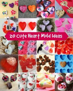 20 Cute Heart Mold Valentine's Day Gift Ideas - gifts, recipes and kids' activities