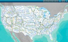 This Rivers & Streams Online Map Shows Upstream And Downstream Direction Of Travel