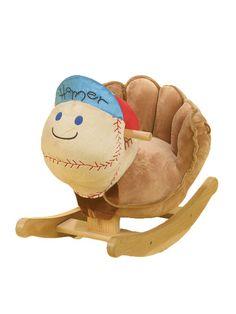 baseball rocking horse