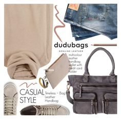 """Be Casual with Dudu Bags"" by pokadoll ❤ liked on Polyvore featuring Loro Piana, DUDU, Levi's Vintage Clothing, Rebecca Minkoff, Topshop, Shiseido and dudubags"
