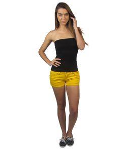 Colored denim shorts w/pockets-id.23835b