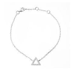 Hugo triange bracelet by Les Soeurs, 925 silver with zirkonia