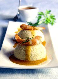 Cocina Ligera. Pastel de berenjenas con salsa de langostinos