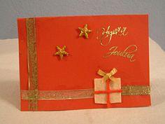 Myös tässä kortissa on käytetty koristenauhaa tuomaan ryhtiä.