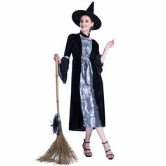 Adult Halloween Costumes Evil Witch Costume For Women Oversize Black Long Dresses With Hat Suit Fancy Dress Cosplay 2017 Witch Costume Adult, Witch Costumes, Adult Halloween, Halloween Costumes, Witches Costumes For Women, Evil Witch, Costume Accessories, Long Dresses, Fancy Dress