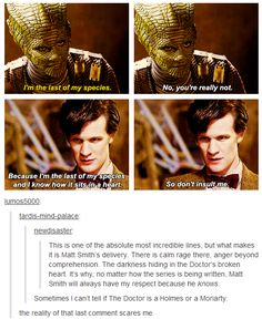 Yes. They nailed it. This is why I love Matt Smith and will miss him so much.