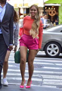 Out in New York City.   - ELLE.com