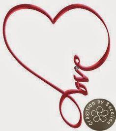broderie machine gratuite coeur