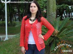Casaco de Crochê Rubi - Moda Adulto - Aprendendo Croche