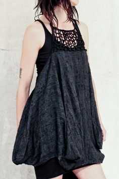 MANDULA HAND WOVEN SILK PARACHUTE DRESS |