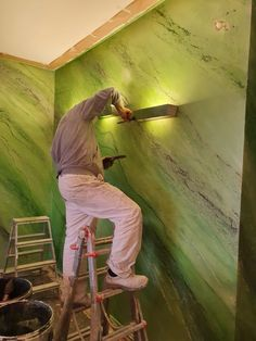 Interior Ceiling Design, Interior Decorating, Tv Feature Wall, Marble Vinyl, Wall Design, House Design, Cool Color Palette, Concrete Art, Architectural Elements
