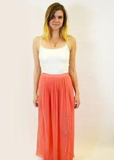 Coral Maxi Skirt $88