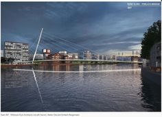This section shows a single image for each entry, provided by the design teams for the purpose of the public consultation. Where teams have been happy to release their technical analysis into the. Bridge Design, Pedestrian Bridge, London Bridge, Single Image, New Life, Futuristic, Competition, Public, Urban