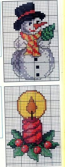 Candle cross stitch.