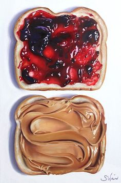 peanut butter and jelly-Sarah E Wain Food Art Painting, Painting & Drawing, Painting People, Painting Wallpaper, Painting Flowers, Painting Videos, Polychromos, Oil Painting For Beginners, Arte Sketchbook