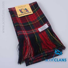 Pure wool sash in MacPherson Modern Tartan - from ScotClans