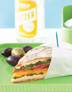 Wrapped Muffuletta Sandwiches Muffuletta Sandwich, School Lunches, Canapes, Picnic, Sandwiches, Meals, Recipes, Food, Meal