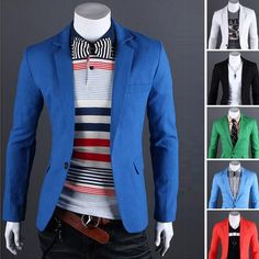 Now available on our store: 2015 New Arrival ....  Check it out here! http://ravenheart-attires.myshopify.com/products/2015-new-arrival-single-button-slim-fit-blazers?utm_campaign=social_autopilot&utm_source=pin&utm_medium=pin.