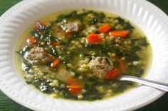Italian Wedding Soup--i cooked the meatballs for 24 minutes in a 375 degree oven