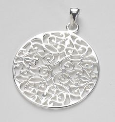 """What a stunning piece!!! This sterling silver Southern Gate pendant is absolutely breathtaking! If you're looking for the wow factor…WOW!! Be sure to check out the rest of this wonderful Collection. Measures 1 5/8"""" in diameter."""