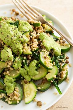 Delicious Green Powerhouse Pesto and Lentils