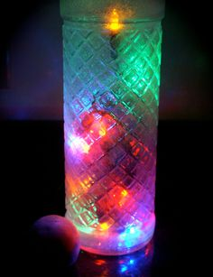 Christmas Wine Bottle Lights Multi Colored in Frosted Glass