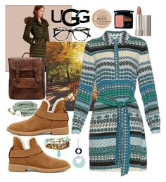 """090816A"" by terebol ❤ liked on Polyvore featuring Burberry, UGG, Panacea, NOVICA, Diane Von Furstenberg, Rimmel, Christian Dior and Ace"