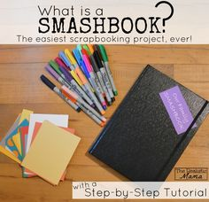So you want to capture the memories of life right now, but the idea of scrapbooking overwhelms you? Welcome to the Smash Book! This is a delightfully simplified way to chronicle life's special moments without the time commitment usually required by scrapbooking. The best news – you can start today!  Link tutorial