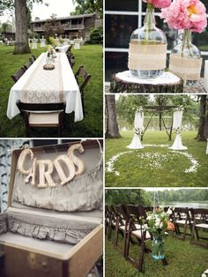 Love the arbor and circle of petals! We can use your old vintage suit case to put the wedding cards in