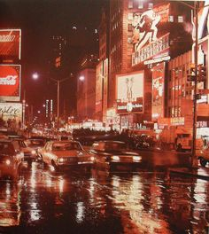 Times Square in Rain 1969 New York City Vintage   Flickr - Photo Sharing!