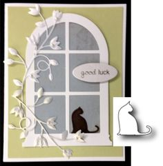 Kitty Kitten Cat Die Cut Sitting Cat Diecut by Memory Box for Handmade Cards | eBay