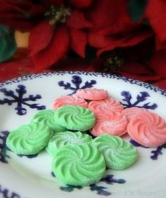 Have these sitting out at your next party! Yummy Cream Cheese Mints - you can change the colours according to the holiday! Cookie Desserts, Just Desserts, Delicious Desserts, Yummy Food, Fun Food, Holiday Baking, Christmas Baking, Christmas Treats, Christmas Goodies