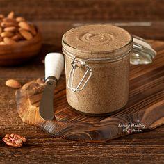 Paleo Vanilla Cinnamon Almond Butter Recipe (glutenfree grainfree dairyfree  sugarfree lowcarb). ☀CQ #glutenfree #organic
