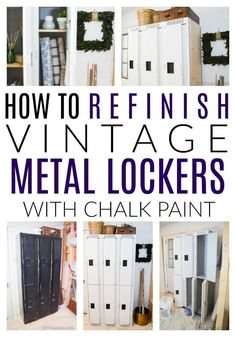 Craft Gifts For Father - Fantastic Present Strategies Read These Tips On How To Clean, Prep And Paint Vintage Metal Lockers Or Anything Made Of Hard Metal. A Full Before and After Reveal With A Supply List.