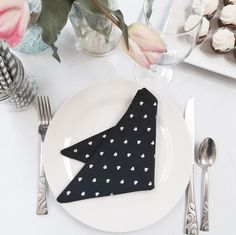 Navy Cloth Napkins with Silver Hearts Polka Dots (Bridal Shower Decorations Mother's Day Brunch Wedding Fabric Table Linens Cocktail Decor) by WildfireEvents on Etsy https://www.etsy.com/listing/230460946/navy-cloth-napkins-with-silver-hearts