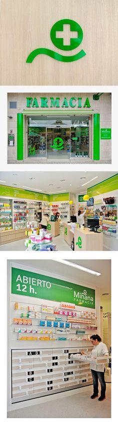 En Factor ñ hemos diseñado la imagen de marca y un fantástico espacio para la Farmacia Miñana.