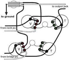 Seymour Duncan wiring diagram: 2 Triple Shots, 2