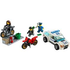 It's an all-out LEGO® City High Speed Police Chase with a police car, 2 scrambler motorbikes, ramp, policeman, 2 crooks and accessories! Building Sets For Kids, Building Blocks Toys, Kids Store, Toy Store, Lego City Sets, Lego City Police, Lego Toys, Buy Lego, Lego Parts