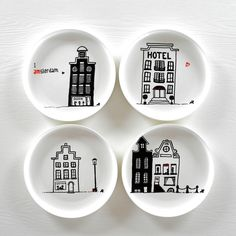 Cool affordable Amsterdam style breakfast plates!