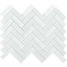 Emser Tile Finesse Charisma - x Herringbone Backsplash Mosaic Tile - Varied Glass Visual White Herringbone Tile, Herringbone Backsplash, Mosaic Glass, Mosaic Tiles, Mosaic Wall, Wall Tile, Glass Backsplash Kitchen, Backsplash Ideas, Backsplash Tile