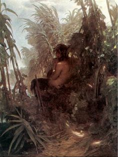 Pan playing the flute by Arnold Bocklin