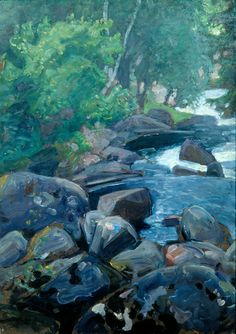 Pekka Halonen Chur, Different Media, Natural World, Three Dimensional, Golden Age, Scandinavian, Fine Art, Rivers, Nature
