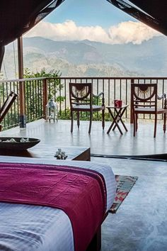 The rooms at Madulkelle Tea Eco-lodge overlook the Huluganga Valley. #Jetsetter