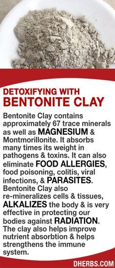Read More About Bentonite Clay contains approximately 67 trace minerals as well as Magnesium & Montmorillonite. It absorbs many times its weight in pathogens & toxins. It can also eliminate food allergies, food poiso. Natural Medicine, Herbal Medicine, Natural Cures, Natural Healing, Natural Detox, Food Allergies, Food Poisoning, Nutrition Sportive, Salud Natural