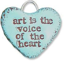 polymer clay made - Art is the voice of the heart. Heart Art, Love Heart, Artist Quotes, Artsy Fartsy, Art Lessons, Heart Shapes, The Voice, Polymer Clay, Just For You
