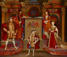 Henry VII (1457–1509), Queen Elizabeth (of York) (1466–1503), Henry VIII (1491–1547), Queen Jane Seymour (1509–1537), and Edward VI (1537–1553), as Prince of Wales  (adapted from Hans Holbein the younger)  by Remi van Leemput  Date Painted: 1669  From: National Trust  She lived out the rest of her life as Queen Dowager at Bermondsey Abbey dying in 1492. From being a widowed commoner she'd become the ancestor of every Tudor monarch through her grandson King Henry VIII.