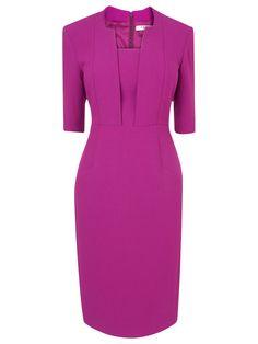 L.K. Bennett Detroit Fitted Dress, Red Violet