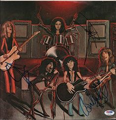 Aerosmith Steven Tyler Joey Brad Whitford Signed Album Sleeve Cover PSA AFTAL ** Learn more by visiting the image link-affiliate link. Nick Games, Aerosmith Concert, Brad Whitford, Steven Tyler Aerosmith, Album Cover Design, Stevie Ray Vaughan, David Gilmour, Funny Tattoos, Keith Richards
