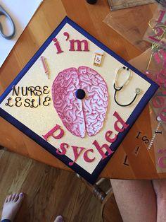 Psych Nurse graduation cap