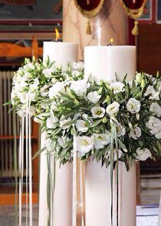 Hochzeitsdekoration Olive Wedding, Greek Wedding, Our Wedding, Altar Decorations, Flower Decorations, Wedding Decorations, Altar Flowers, Wedding Flowers, Diy Wedding Wreath